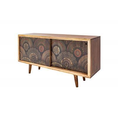 Tömörfa tároló 160 cm, mandala mintával - SIANT LOUIS